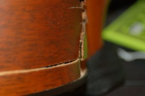 damaged guitar